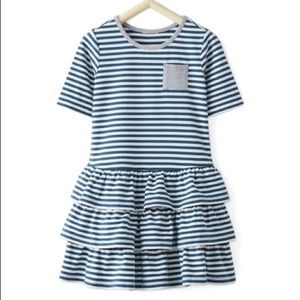 Hanna Andersson | Striped Blue Tiered Twirl Dress